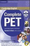COMPLETE PET - STUDENTS BOOKS WITHOUT ANSWERS + CD
