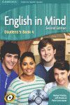 ENGLISH IN MIND FOR SPANISH SPEAKERS - LEVEL 4 - STUDENT'S BOOK WITH DVD-ROM (2ND ED.)