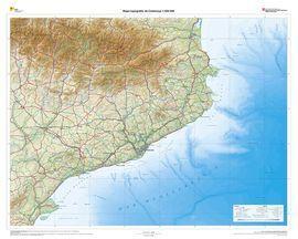 Mapa Topografic De Catalunya.Mapa Topografic De Catalunya En Relleu 1 450 000
