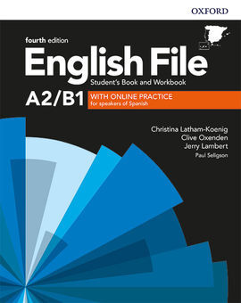 ENGLISH FILE 4TH EDITION A2/B1. STUDENT'S BOOK AND WORKBOOK WITHOUT KEY PACK
