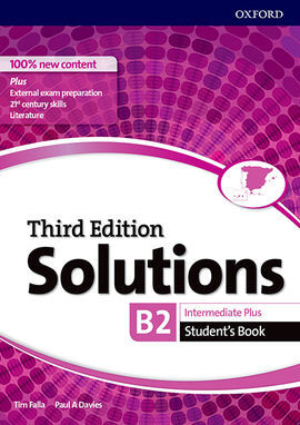 SOLUTIONS INTERMEDIATE PLUS. STUDENT'S BOOK 3RD EDITION