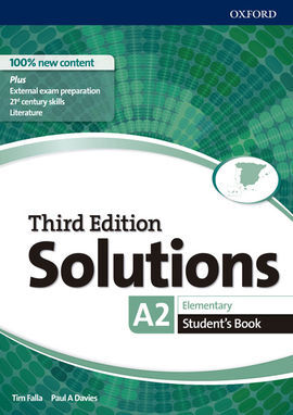 SOLUTIONS 3RD EDITION ELEMENTARY. STUDENT'S BOOK