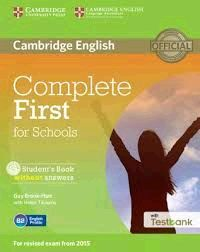 COMPLETE FIRST SCHOOLS SB/CD ROM/TESTBANK