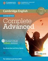 COMPLETE ADVANCED CAE (2ª ED.) STUDENT´S BOOK WITHOUT ANSWERS /CD ROM/TESTBANK