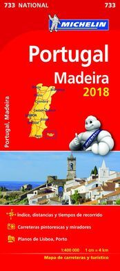 MAPA MICHELIN PORTUGAL MADEIRA 2018