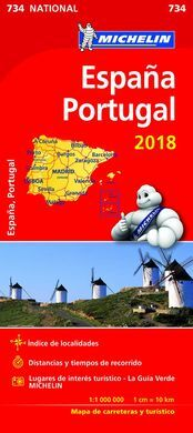 MAPA MICHELIN ESPAÑA-PORTUGAL 2018