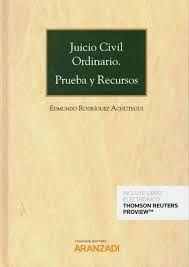 DESCARGAR JUICIO CIVIL ORDINARIO PRUEBA Y RECURSOS