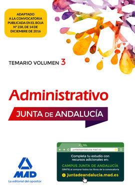 DESCARGAR ADMINISTRATIVO DE LA JUNTA DE ANDALUCÍA TURNO LIBRE. TEMARIO VOLUMEN 3
