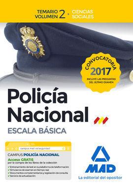 DESCARGAR POLICÍA NACIONAL ESCALA BÁSICA. TEMARIO VOLUMEN 2