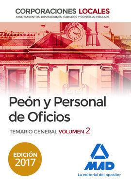 DESCARGAR PEONES Y PERSONAL DE OFICIOS DE CORPORACIONES LOCALES. TEMARIO GENERAL VOLUMEN 2