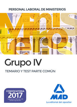 DESCARGAR PERSONAL LABORAL MINISTERIOS GRUPO 4 TEMARIO-TEST