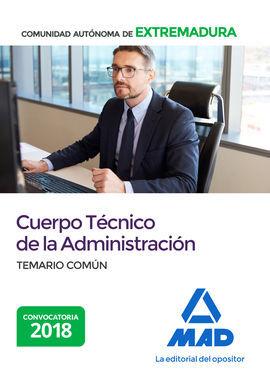 DESCARGAR CUERPO TÉCNICO DE LA ADMINISTRACIÓN DE LA COMUNIDAD AUTONÓMA DE EXTREMADURA. TEM