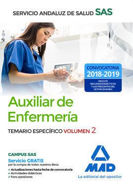 DESCARGAR AUXILIAR ENFERMERÍA DEL SERVICIO ANDALUZ DE SALUD. TEMARIO ESPECÍFICO VOLUMEN 2