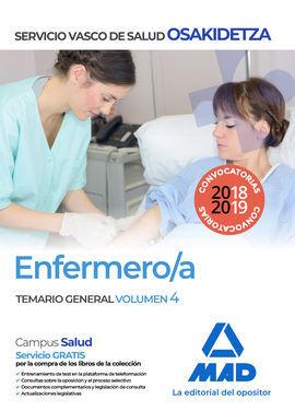 DESCARGAR ENFERMERO/A TEMARIO OSAKIDETZA SERVICIO VASCO DE SALUD GENERAL VOLUMEN 4