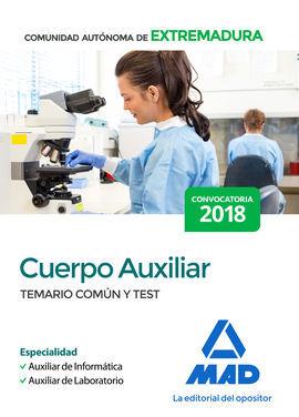 DESCARGAR CUERPO AUXILIAR DE LA COMUNIDAD AUTÓNOMA DE EXTREMADURA (ESPECIALIDAD AUXILIAR D