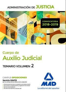 DESCARGAR CUERPO DE AUXILIO JUDICIAL DE LA ADMINISTRACIÓN DE JUSTICIA. TEMARIO VOLUMEN 2