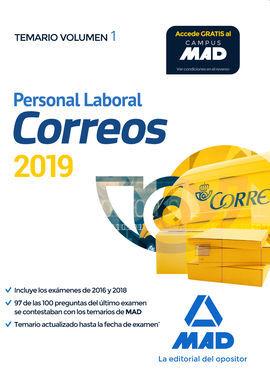DESCARGAR PERSONAL LABORAL DE CORREOS Y TELÉGRAFOS. TEMARIO VOLUMEN 1