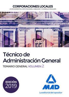 DESCARGAR TÉCNICO DE ADMINISTRACIÓN GENERAL DE CORPORACIONES LOCALES. TEMARIO GENERAL VOL