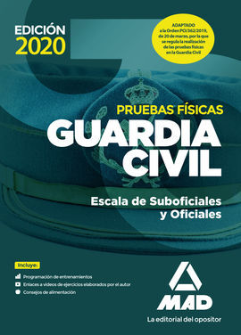 GUARDIA CIVIL ESCALA DE SUBOFICIALES. PRUEBAS FÍSICAS
