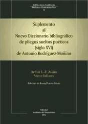 DESCARGAR SUPLEMENTO AL NUEVO DICCIONARIO BIBLIOGRÁFICO DE PLIEGOS SUELTOS POÉTICOS -SIGLO