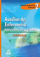 DESCARGAR AUXILIAR ENFERMERIA SERGAS. TEMARIO ESPECIFICO VOL.II