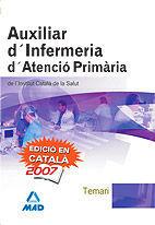 DESCARGAR TEMARI AUXILIAR D'INFERMERIA D'ATENCIÓ PRIMARIA