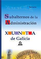 DESCARGAR TEMARIO SUBALTERNOS ADMINISTRACIÓN XUNTA DE GALICIA
