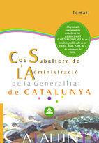 DESCARGAR TEMARI COS SUBALTERN DE L'ADMINISTRACIÓ DE LA GENERALITAT DE CATALUNYA