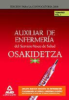 DESCARGAR TEMARIO VOL.I AUXILIAR DE ENFERMERÍA DEL SERVICIO VASCO DE SALUD . OSAKIDETZA