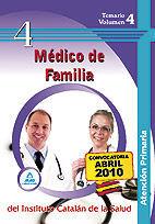 DESCARGAR TEMARIO V. 4 MEDICO DE FAMILIA INST. CATALAN DE LA SALUD ATENCION PRIMARIA