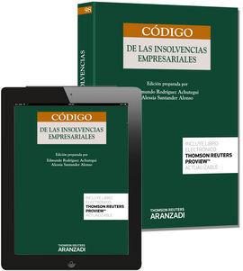 DESCARGAR CÓDIGO DE LAS INSOLVENCIAS EMPRESARIALES (PAPEL + E-BOOK)