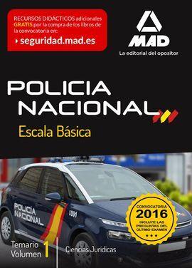 DESCARGAR ESCALA BÁSICA DE POLICÍA NACIONAL. TEMARIO VOLUMEN 1: CIENCIAS JURÍDICAS