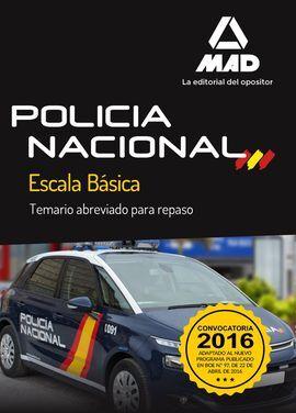 DESCARGAR POLICÍA NACIONAL ESCALA BÁSICA. TEMARIO ABREVIADO PARA REPASO