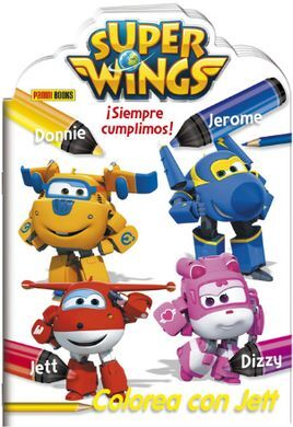 SUPER WINGS. COLOREA CON JETT