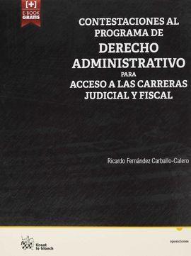DESCARGAR CONTESTACIONES AL PROGRAMA DE DERECHO ADMINISTRATIVO PARA ACCESO A LAS CARRERAS JUDICIAL Y ADMINISTRATIVA