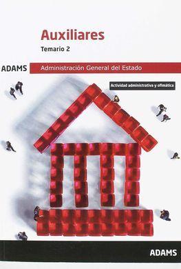 DESCARGAR TEMARIO 2 AUXILIARES DE LA ADMINISTRACIÓN DEL ESTADO