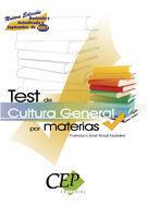 DESCARGAR TEST DE CULTURA GENERAL POR MATERIAS