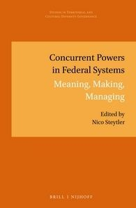 CONCURRENT POWERS IN FEDERAL SYSTEMS. MEANING, MAKING, MANAGING