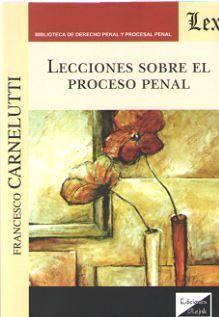 DESCARGAR LECCIONES SOBRE EL PROCESO PENAL